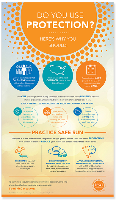 Infographic: Practice Safe Sun | American Academy of Dermatology
